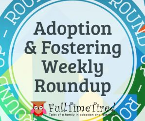 The Weekly Roundup Badge Presenting The Adoption & Fostering Weekly Roundup Badge